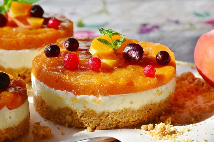 Cheesecake met abrikozen