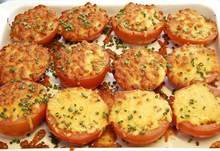 Gegratineerde tomaten