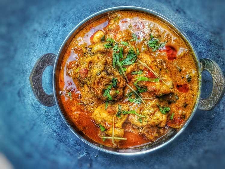 Indiase curry met kip en rijst