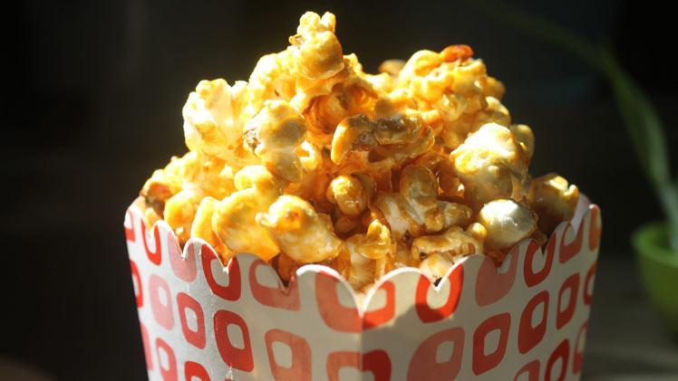 Zoute-karamelpopcorn