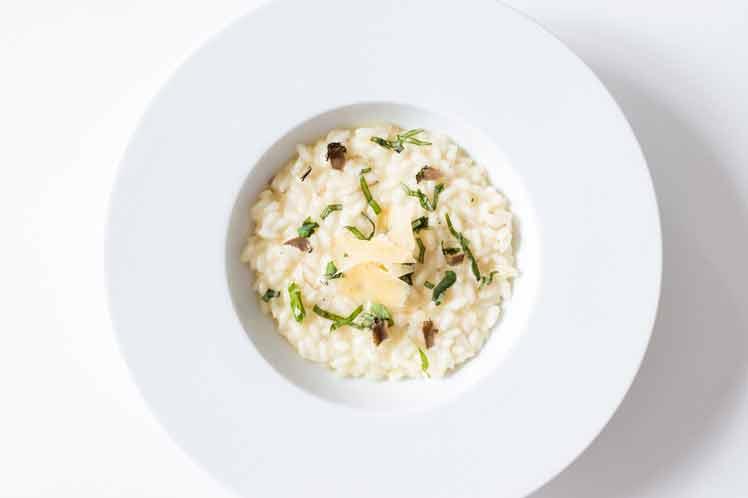 Citroen-witte wijn risotto